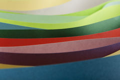 Abstraction from colored paper Stock Image