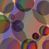 Abstraction of colored spheres Royalty Free Stock Photography