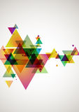 Abstraction  colorful background. Abstract colored background of the triangles Royalty Free Stock Images