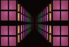 Abstraction of colorful windows Stock Image