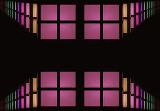 Abstraction of colorful windows. On black background Royalty Free Stock Image