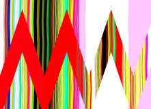 Abstraction of colors. sign metro. Royalty Free Stock Photo