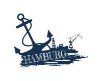 Abstraction commerciale de port maritime Images stock