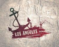 Abstraction commerciale de port maritime Images libres de droits