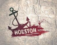 Abstraction commerciale de port maritime Photos stock