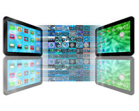 Tablet abstraction Royalty Free Stock Photo