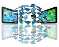 Tablet abstraction Stock Photos