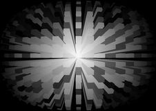 Abstraction cubic sphere black-and-white Stock Photos