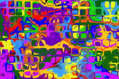 Abstraction curves figures pattern pied. Abstract decorative bright motley multicolored background with a pattern from a variety of shapes, curves, lines and Stock Image