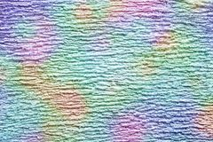 Abstraction d'une texture fibreuse et des taches multicolores brouillées Photographie stock