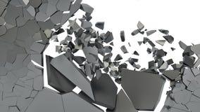 Abstraction de différents fragments sur un fond blanc Image stock