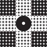 Abstraction de elle cercles blancs noirs de solides totaux. Illustration Stock
