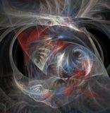 Abstraction de fractale Rougeoyer se développe en spirales et ondule illustration stock