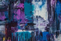 Abstraction de peinture à l'huile sur un fond noir Fond Texture image libre de droits