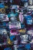 Abstraction de peinture à l'huile sur un fond noir Fond Texture images libres de droits