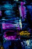 Abstraction de peinture à l'huile sur un fond noir Fond Texture photo stock