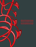 Abstraction of devil tails 2 A Stock Photography