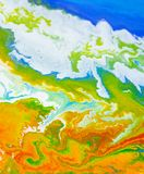 Abstraction earth planet fluid art stock photo