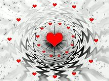 Abstraction fantasy for holidays - Valentines day royalty free stock image
