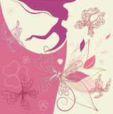 Abstraction floral woman Stock Photos