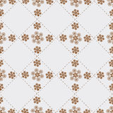 Abstraction with flowers on grey. Seamless pattern for the background, consisting of various shapes on a grey background Royalty Free Stock Image