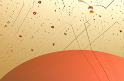 Abstraction fractal 3d sunset Royalty Free Stock Image