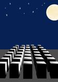 Abstraction, the full moon. Royalty Free Stock Photos