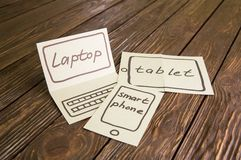 Abstraction of the future for the laptop Royalty Free Stock Photos