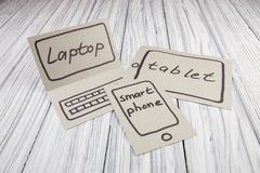 Abstraction of the future for the laptop Stock Photography