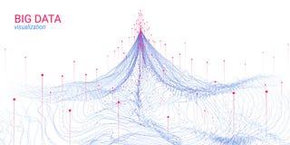 Abstraction futuriste Grande visualisation de données illustration de vecteur