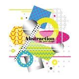 Abstraction géométrique de vecteur lumineux fond d'art moderne Illustration Stock