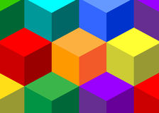 Abstraction. Geometrical abstract color pattern cubes Stock Image