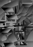 Abstraction gray figures. Royalty Free Stock Photos