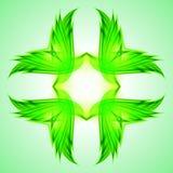 Abstraction green symbol Stock Photos