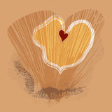 Abstraction Heart. Abstract background from several hearts Stock Image