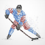 Abstraction, hockey, glace, galet Photos stock