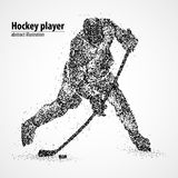 Abstraction, hockey, glace, galet Image libre de droits