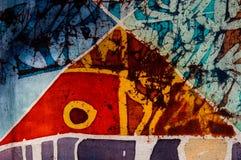Abstraction, hot batik, background texture, handmade on silk, abstract surrealism art stock photos