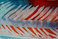 Abstraction, hot batik, background texture, handmade on silk, abstract surrealism art royalty free stock images