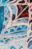Abstraction, hot batik, background texture, handmade on silk, abstract surrealism art royalty free stock photo