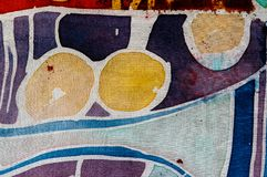 Abstraction, hot batik, background texture, handmade on silk, surrealism art royalty free stock images