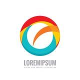 Abstraction - illustration de concept de logo d'affaires de vecteur Anneau coloré avec la forme abstraite Signe géométrique posit Images stock