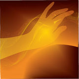 Abstraction. With the image of a womans hand Stock Photos