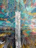 Abstraction. Interior. Graphic. Painting. Abstract. Art. Picture. Design stock image