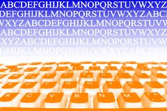 Abstraction with keyboard Royalty Free Stock Photos