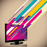Abstraction with lcd tv. Abstraction with lcd tv in color Royalty Free Stock Photo