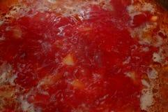 Abstraction Le bouillon de ébullition Potage Image libre de droits