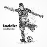 Abstraction, le football, athlète illustration stock