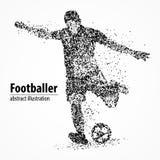 Abstraction, le football, athlète Photos libres de droits
