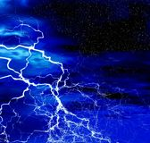 Abstraction  lightning. Night. Abstraction  lightning. Cover for Cd album Stock Photography